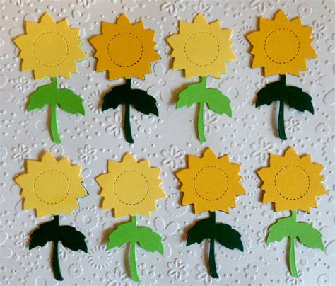 Bahan Scrapbook Dies Cut Out Hw 043 Floral Cluster Circle 10 assembled large sunflower die cuts for cards toppers cardmaking scrapbooking paper craft