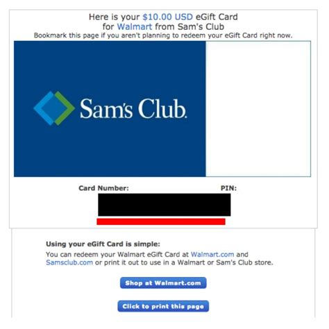 Can A Sam S Gift Card Be Used At Walmart - sam s club gift cards balance gift ideas