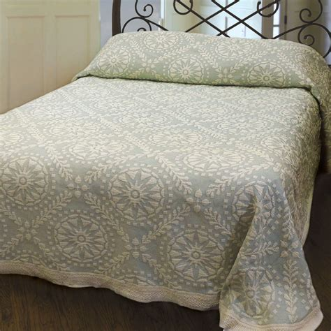 cotton coverlet americana cotton woven matelasse bedspread bedding