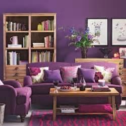Purple Livingroom by Purple Living Room With Wooden Furniture Living Room