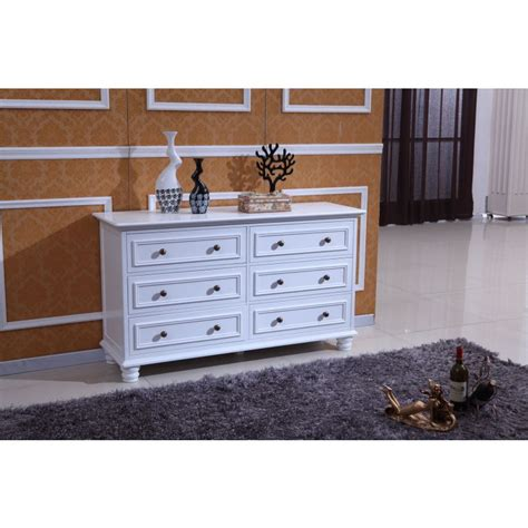 White Chest Of Drawers Adelaide by Carved Chest Of 6 Drawers Dresser In Matte White Buy
