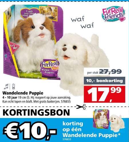 speelgoed hond die loopt en blaft fur real kortingsbon interactieve speelfiguur folder