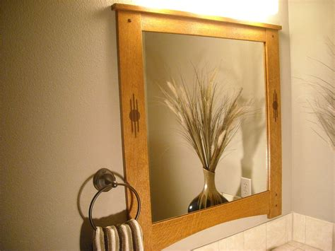 arts  crafts mirror frame  inlay  pintodeluxe
