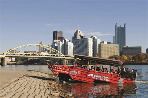 duck boat pittsburgh just ducky tours pittsburgh s only land and water tour