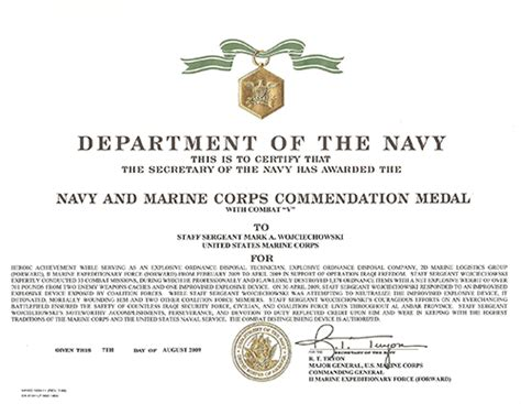 usmc certificate of commendation template tony wojciechowski quot tony wojo quot awards