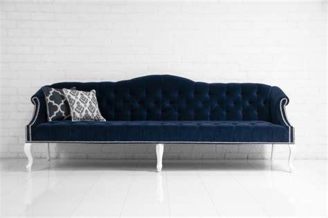 navy velvet sofa www roomservicestore mademoiselle sofa in navy velvet
