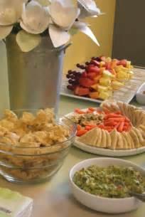 Foody baby shower food ideas