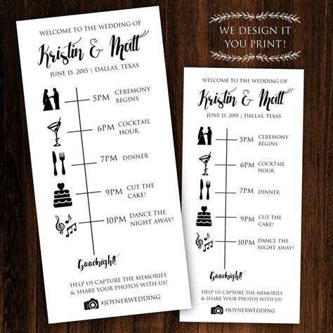 Wedding Ceremony Itinerary Template by Printable Wedding Timeline Printable Wedding Itinerary