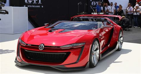 volkswagen gti sports car volkswagen gti roadster concept makes its debut at