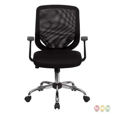 Mid Back Mesh Chair by Mid Back Black Mesh Office Chair With Mesh Fabric Seat Lf