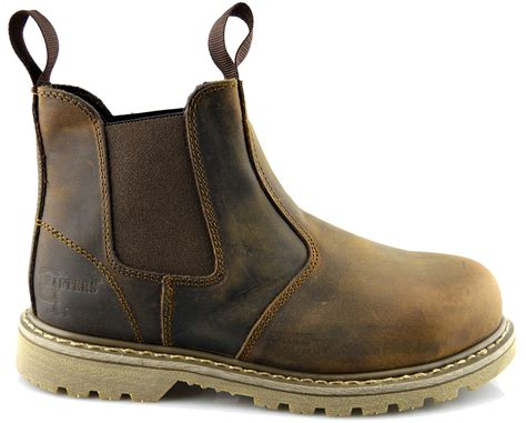 chelsea work boots for mens leather goodyear welted safety dealer chelsea work
