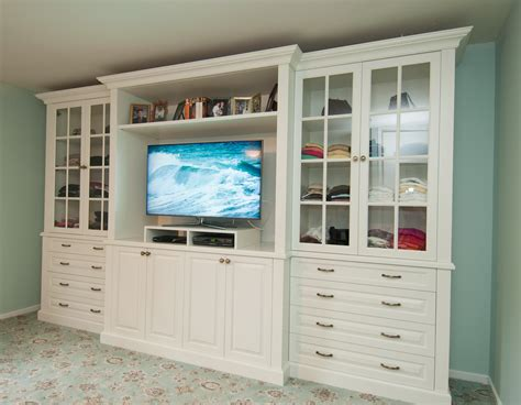 tv stand dresser and display shelves combination creates
