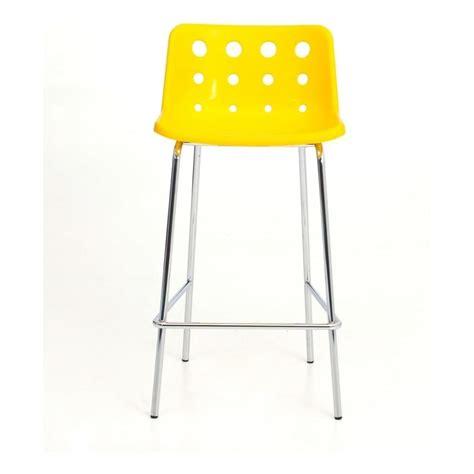 loft robin day 4 leg yellow plastic polo bar stool by