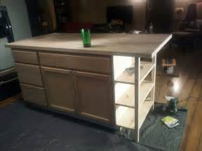 building a kitchen island with cabinets a bundle of diy kitchen island