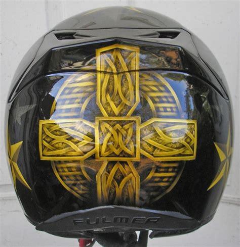 Cat Air Brush Helm Cross Motorcycle Helmet Custom Cross Design