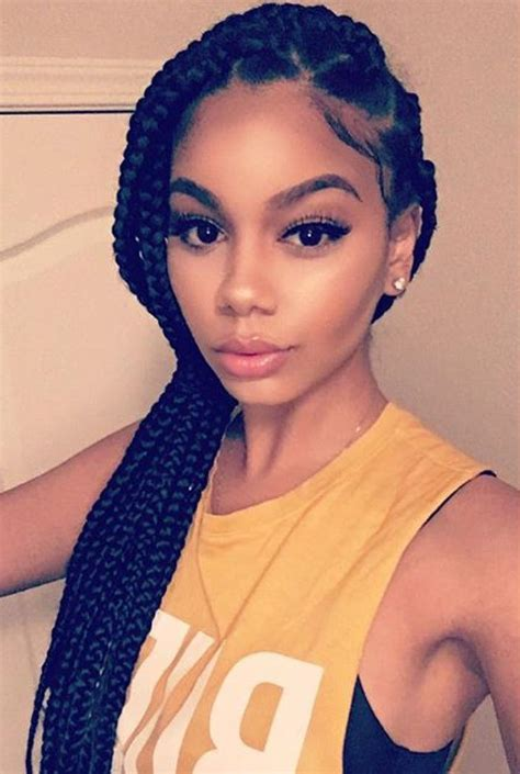 pictures of hair styles that make a big nose look smaller image result for jumbo box braids ponytail braid ideas