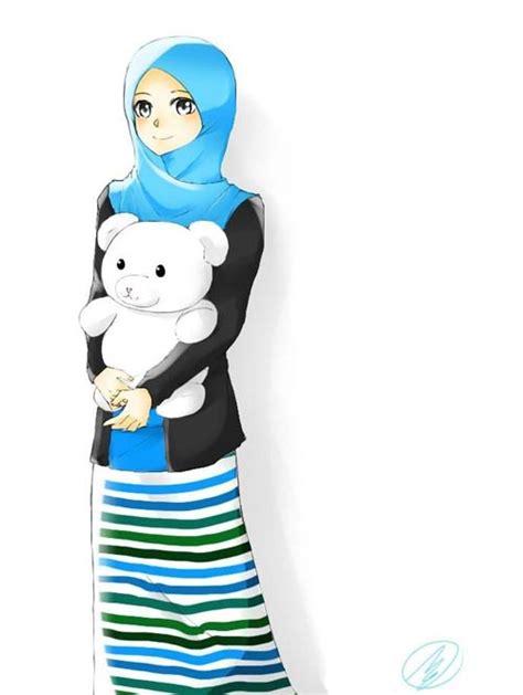 gambar kartun wanita muslimah cantik cartoon muslimah comel adultcartoon co