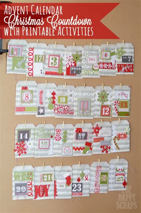 advent calendar countdown printable 25 reasons to get crafty this christmas wait til your