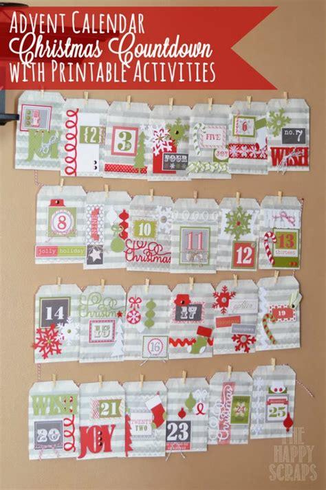 advent calendar countdown printable 25 christmas crafts making home base