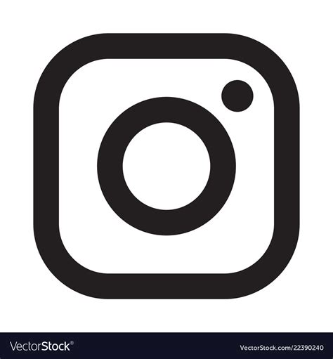 instagram logo icon royalty  vector image vectorstock