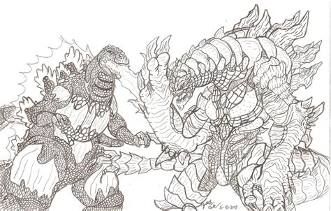 burning godzilla coloring pages burning godzilla vs nemesis black and white by
