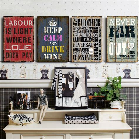 wall decor for home bar aliexpress com buy vintage poster retro and nostalgic