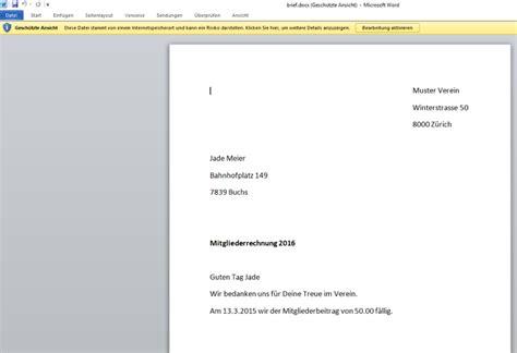Vorlage Rechnung In Word Word Rechnung Drucken Webling Support