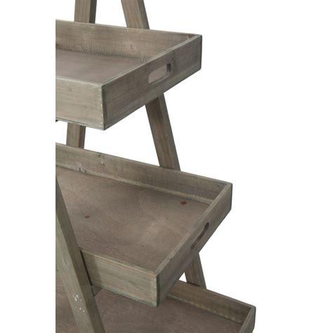 mobiletto per soggiorno scaffale scaletta mobiletto con 4 ripiani in legno per