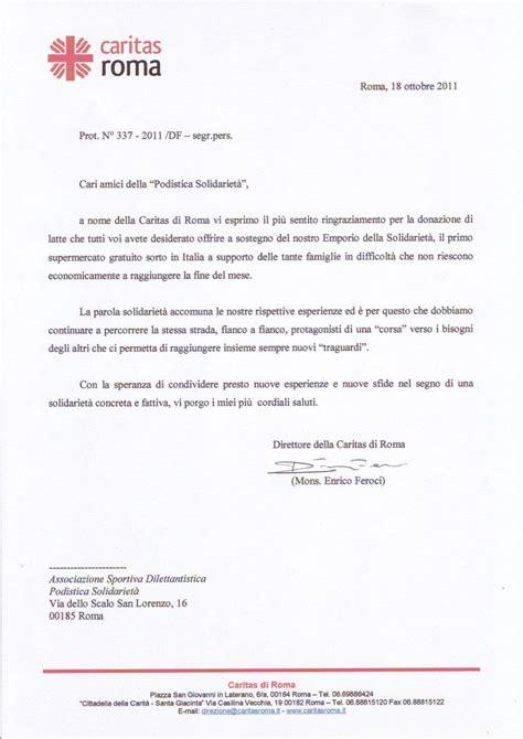 lettere di ringraziamento lettera di ringraziamento alla podistica solidariet 224