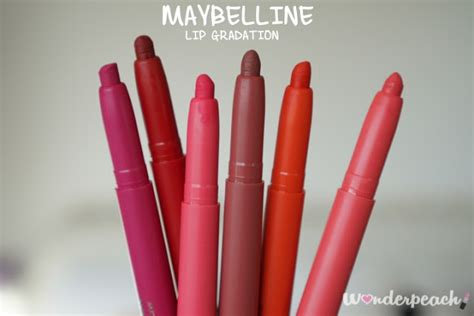 Maybelline Gradation Lip review maybelline lip gradation ท ง 6 ส wonderpeach