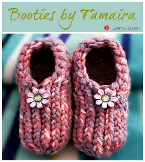 loom knitting baby booties baby booties by tamaira loomahat