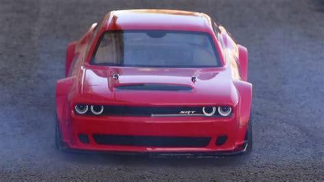 kyosho  dodge challenger srt demon video rc car action