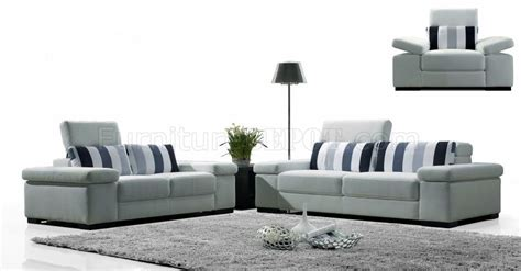 light grey sofa set light grey fabric modern 3pc sofa set w striped pillows