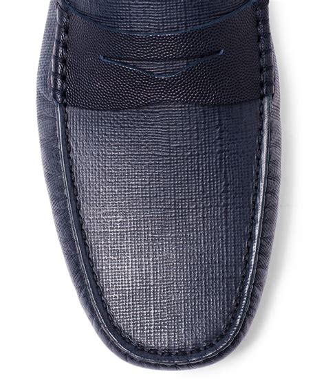 Gucci Safiano 9885 4 lyst tod s navy gommino saffiano leather loafer driving shoes in blue for