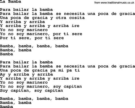 In L Lyrics by Joan Baez Song La Bamba Lyrics