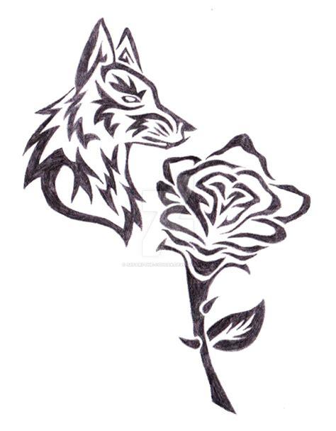 tribal wolf w by shay wolf on deviantart