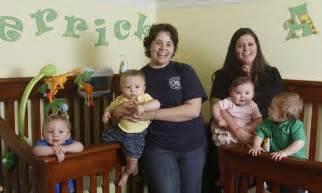 lesbian mothers give birth  quadruplets born  weeks    women   babies