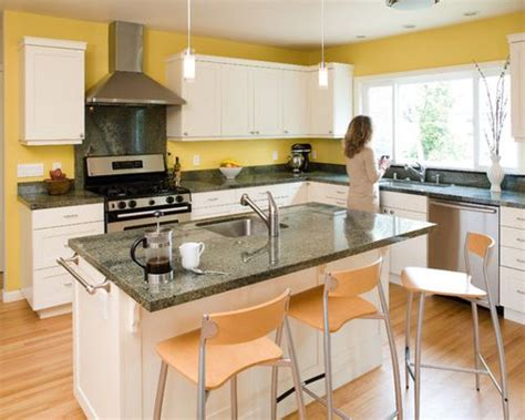 yellow kitchen with white cabinets yellow walls white cabinets houzz