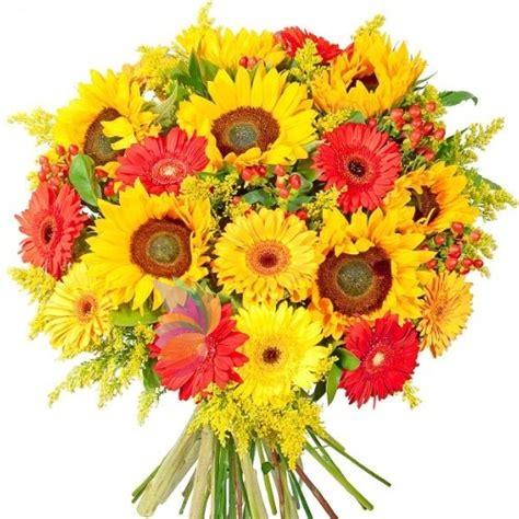 mazzi di fiori con girasoli mazzo vivace con fiori gialli e gerbere e girasoli