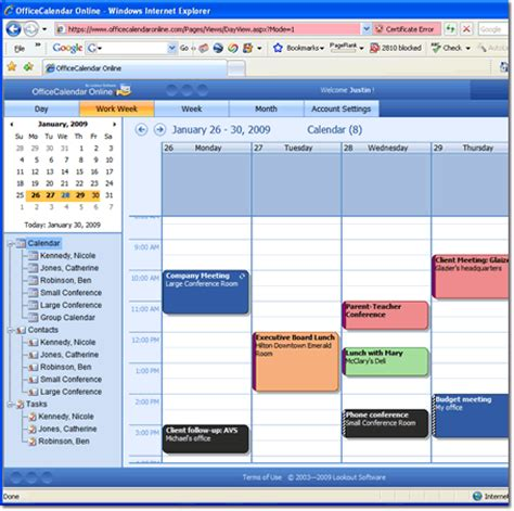 access outlook calendars