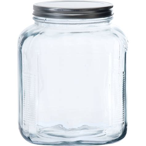 glass jars mainstays 38 oz clear glass jar with cl lid walmart
