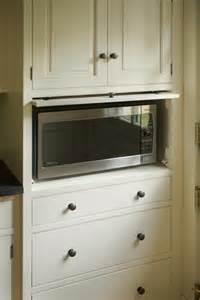 Kitchen Microwave Cabinets Microwave Cabinet Traditional Kitchen Boston By Heartwood Kitchens