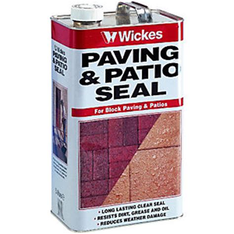 exterior d seal paint wickes paving patio seal 5l clear wickes co uk