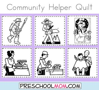 preschool coloring pages community workers community helper classroom quilt coloring pages
