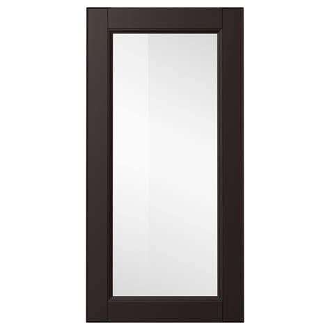 ikea black cabinet doors laxarby glass door black brown 40x80 cm ikea