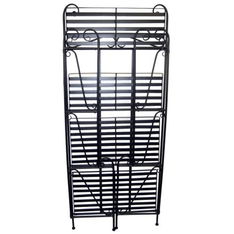 Folding Bakers Rack by Folding Piper Bakers Rack Three Shelves Black In The Uae
