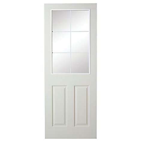 wickes doors wickes 6 light moulded door white glazed primed