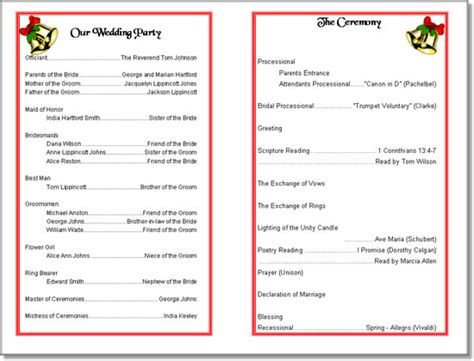 free church program templates wedding program templates from thinkwedding s print your