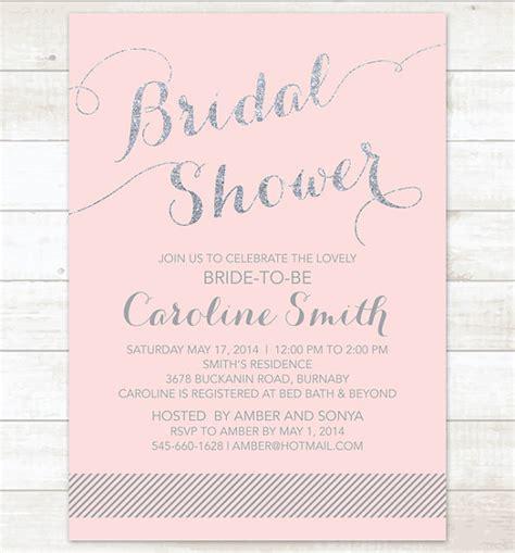 silver and white bridal shower invitations pink silver bridal shower invitation pink silver glitter printable modern wedding shower digital