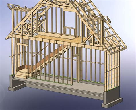 Dormer Framing 48x28 Garage With Attic And Six Dormers